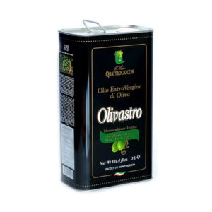 Huile d'olive extra vierge italienne Olivastro monovariete Itrana medaillee BIO 3L QT